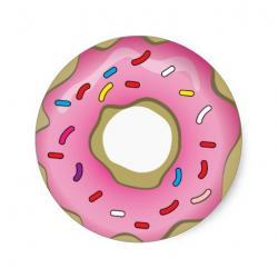 Doughnut clipart pink donut