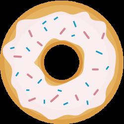 Doughnut clipart simple