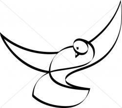 Christ clipart dove