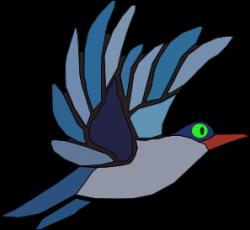 Bluebird clipart burung