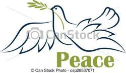 Peace Dove clipart flight sketch