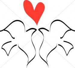 Drawn lovebird line drawing