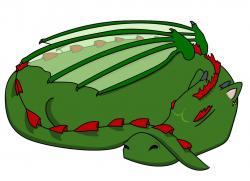 Dragon clipart sleepy