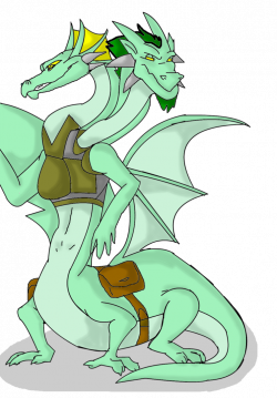 Dragon clipart two headed
