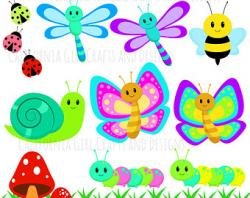 Bumblebee clipart butterfly