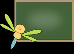 Blackboard clipart cute