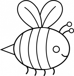 Bumblebee clipart drawn