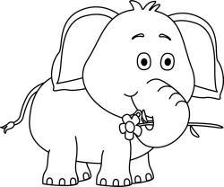 Drawn elephant