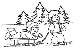 Monochrome clipart winter