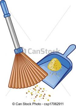 Dust clipart dustpan brush