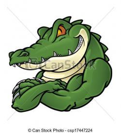 Drawn crocodile mascot