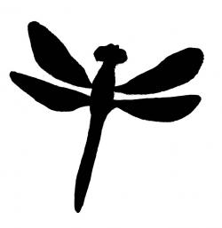 Dragonfly clipart silhouette