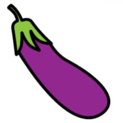 Eggplant clipart vector