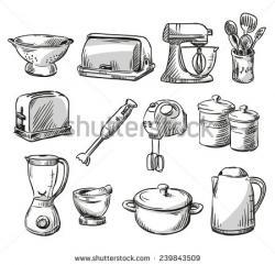 Drawn kitchen