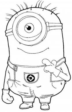 Despicable Me clipart black and white