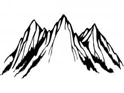 Drawn mountain mountain peak