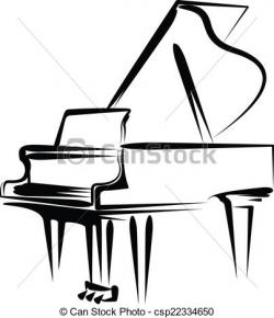 Drawn piano