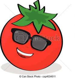 Drawn tomato cute cartoon