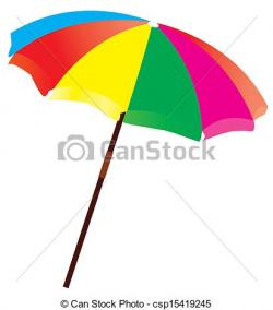 Drawn umbrella