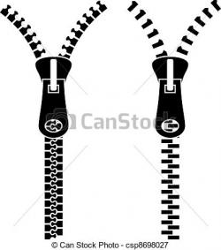 Drawn zipper clipart