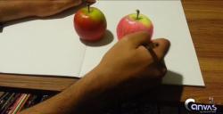 Drawn macbook anamorphic illusion