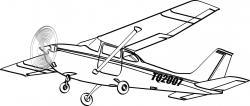 Aviation clipart cessna 172