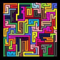 Drawn maze colourful