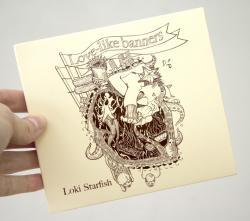 Drawn album cover illustration