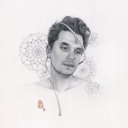 Drawn album cover john mayer