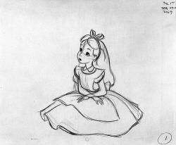 Drawn alice in wonderland