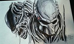 Drawn predator alien vs predator