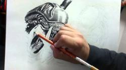 Drawn predator sketch