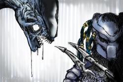 Drawn predator art