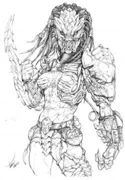 Drawn predator badass