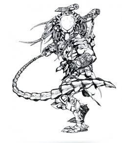 Drawn predator samurai