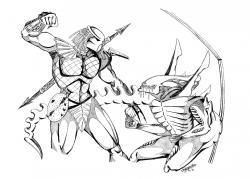Drawn predator coloring