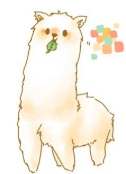 Drawn alpaca