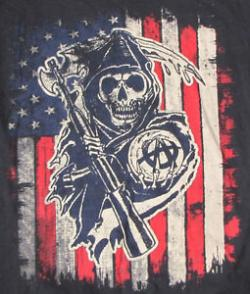 Drawn american flag sons anarchy