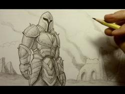 Drawn warrior armor