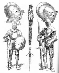 Drawn weapon armor