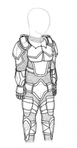 Drawn armor futuristic