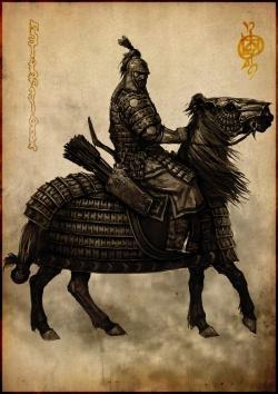 Drawn armor mongolian