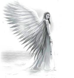 Drawn angel