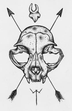 Drawn tattoo artwork