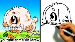 Drawn rabbit youtube easy cartoon
