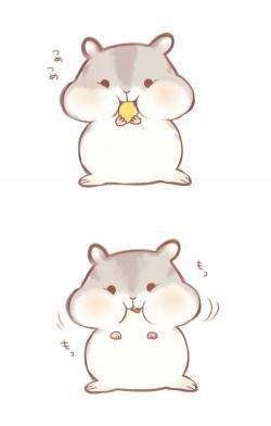 Drawn hamster cute
