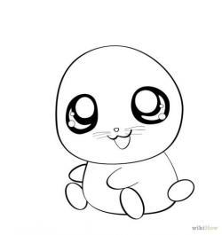 Drawn hamster anime
