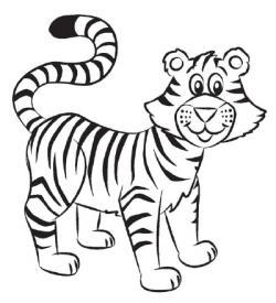 Drawn tiiger tiger line