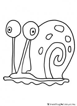 Drawn snail simple