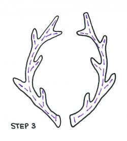 Drawn antler
